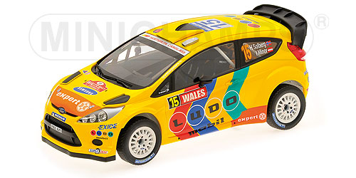 1:18 Ford Fiesta RS WRC 2011 Wales rally # 15 Solberg-Minor - Minichamps