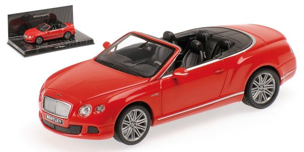 1:43 Bentley Continental GT Speed convertible 2012 červený - Minichamps