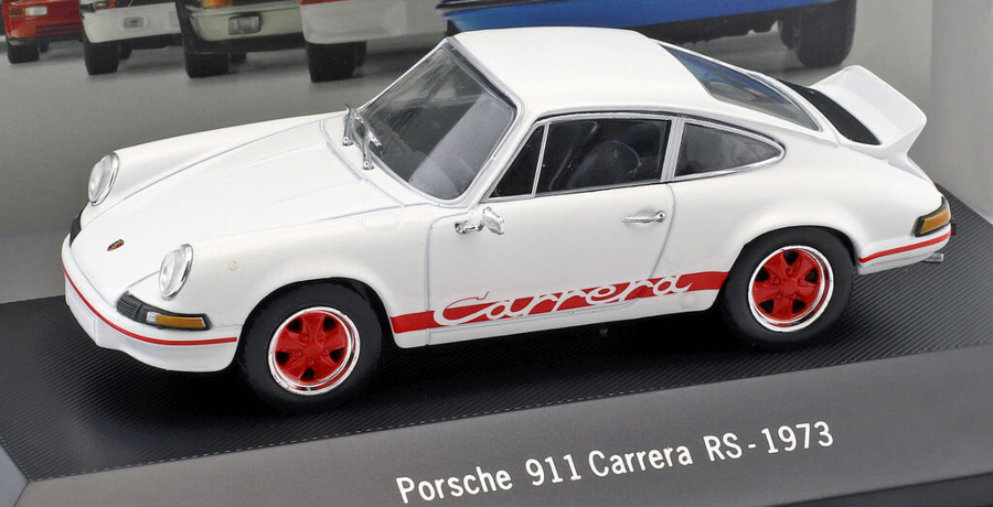 1:43 Porsche 911 Carrera RS 1973 bílý - Atlas