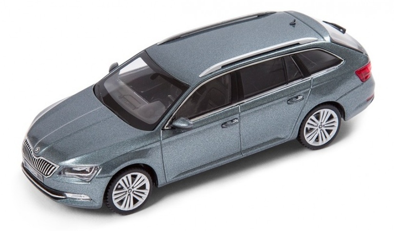 1:43 Skoda Superb III. metal grey - Abrex