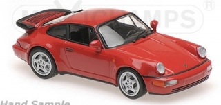 1:43 Porsche 911 (964) Turbo coupé červený  - Maxichamps