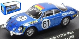 1:43 Renault Alpine A110 Gordini 1968 LeMans # 61 - Atlas