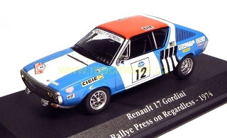 1:43 Renault 17 Gordini Rally Press on Regardless # 12 - Atlas