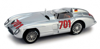 1:43 Mercedes-Benz 300 SLR 1955 Mile Miglia  # 701 Karl King - Brumm