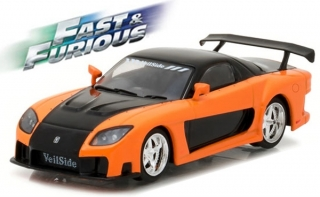 1:43 Mazda  RX-7 1997 Fast and Furious - Greenlight