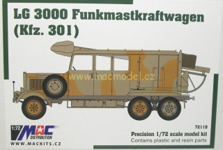 1:72 Mercedes-Benz LG 3000 Kfz.301 radiovůz, resin + plast - MAC.distribution