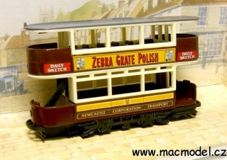 1:72 Preston tramvaj 1920 Zebra Great Polish - Matchbox