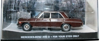 1:43 Mercedes-Benz 200 D - For your eyes only - Universal Hobbies