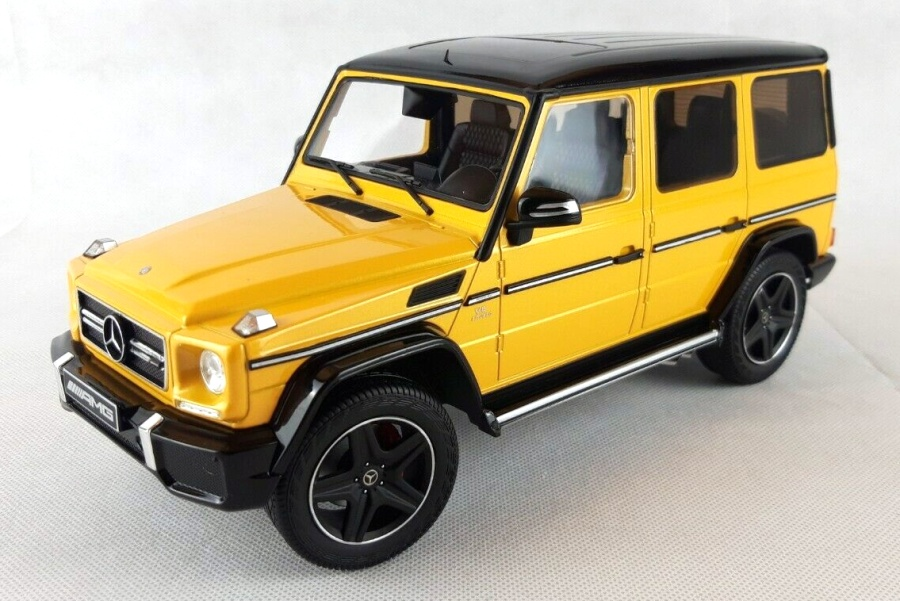 1:18 Mercedes-Benz G Klasse W463 2016 solarbeam yellow - I-Scale