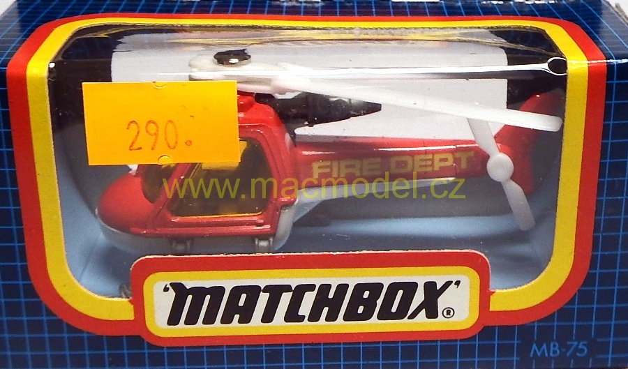1:59 Helicopter Fire Dept, - Matchbox