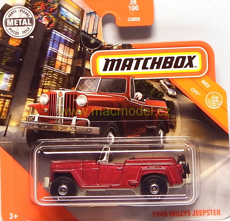 1:59 Willys Jeepster 1948 - Matchbox
