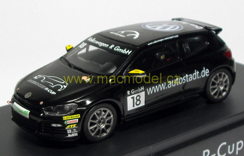 1:43 VW Scirocco R-Cup # 18 Autostadt - Spark