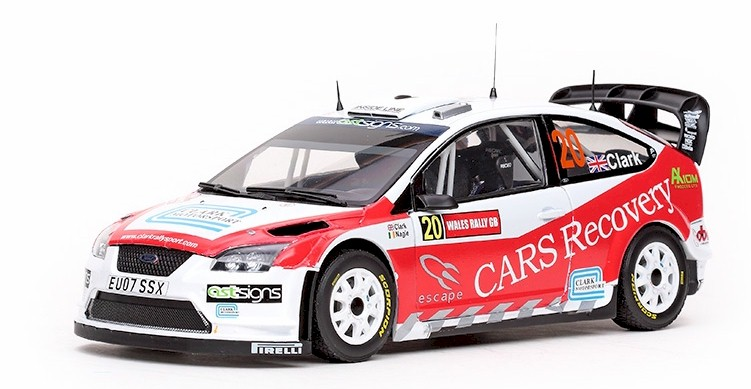 1:18 Ford Focus RS WRC 07 2008 Wales # 20 Clark-Nagel - SunStar
