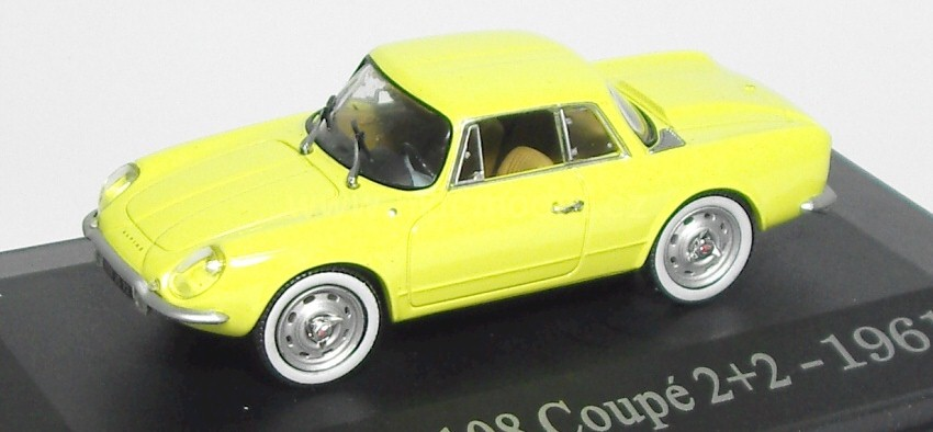 1:43 Alpine A 108 coupé 2+2 1961 žlutý - Universal Hobbies