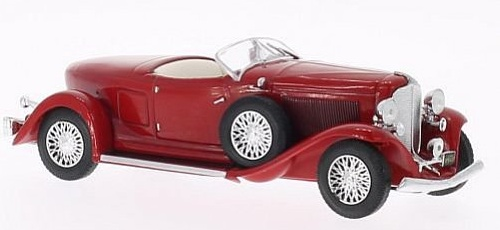 1:43 Auburn Boat Tail Roadster 1933 červený - White Box