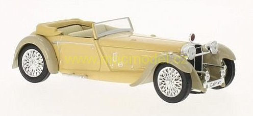 1:43 Daimler Double Six 50 1931 cabrio šedo-béžový - White Box