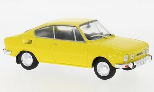 1:43 Skoda 110 R coupé žlutý - White Box