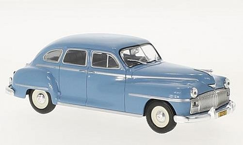 1:43 DeSoto 1948 saloon modrý - White Box