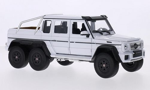 1:24 Mercedes-Benz G63 AMB 6x6 bílý - Welly