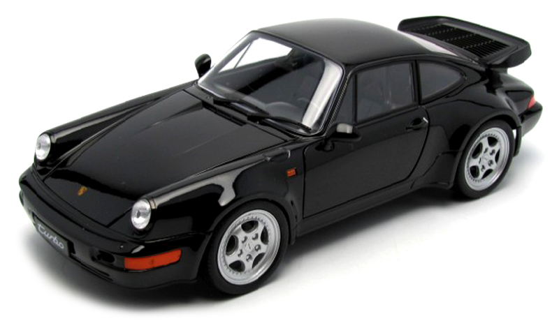 1:18 Porsche 911 (964) Turbo 1992 černý - Welly