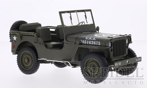 1:18 Jeep Willys US Army olivový - Welly