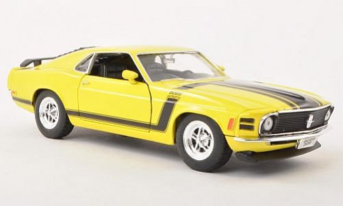 1:24 Ford 1970 Mustang Boss 302 žlutý - Welly