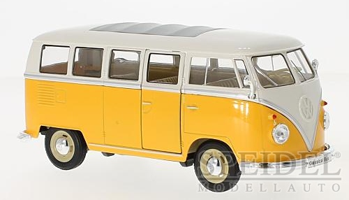 1:24 VW T1 bus 1963 žluto-bílý - Welly