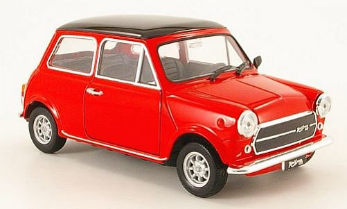 1:24 Mini Cooper 1300 červený - Welly