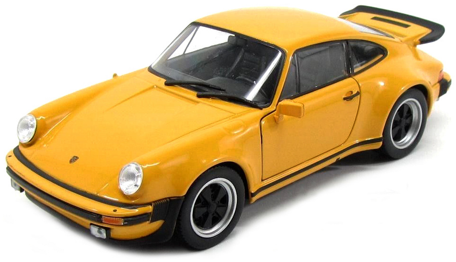 1:24 Porsche 911 Turbo 3,0 1974 žlutý - Welly