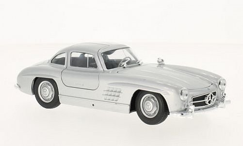 1:24 Mercedes-Benz 300 SL Gullwing (W198) 1954 stříbrný - Welly