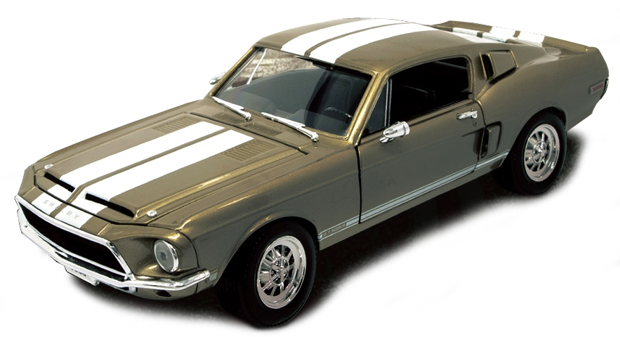 1:18 Ford Mustang Shelby GT 500KR 1968 zlatý - Yatming