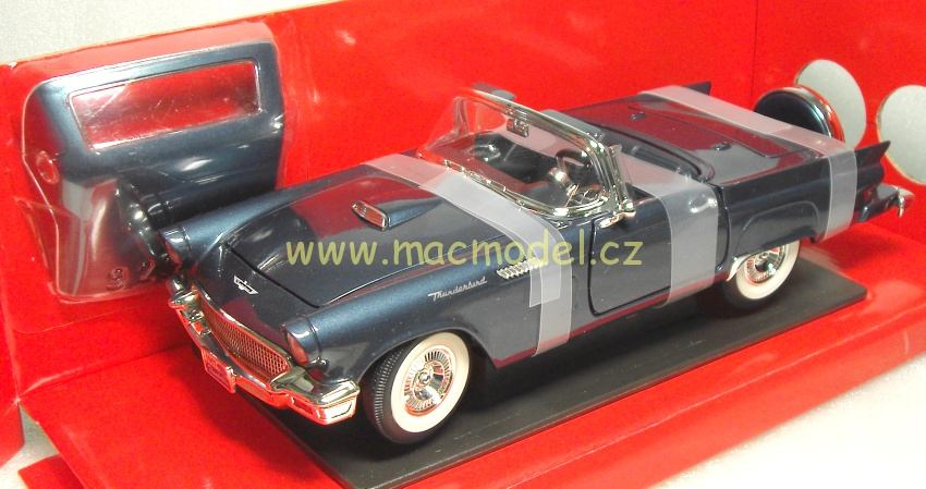 1:18 Ford Thunderbird 1957 Continental kit modrý - YatMing