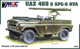 1:72 UAZ 469 + SPG 9 NVA - MAC.distribution